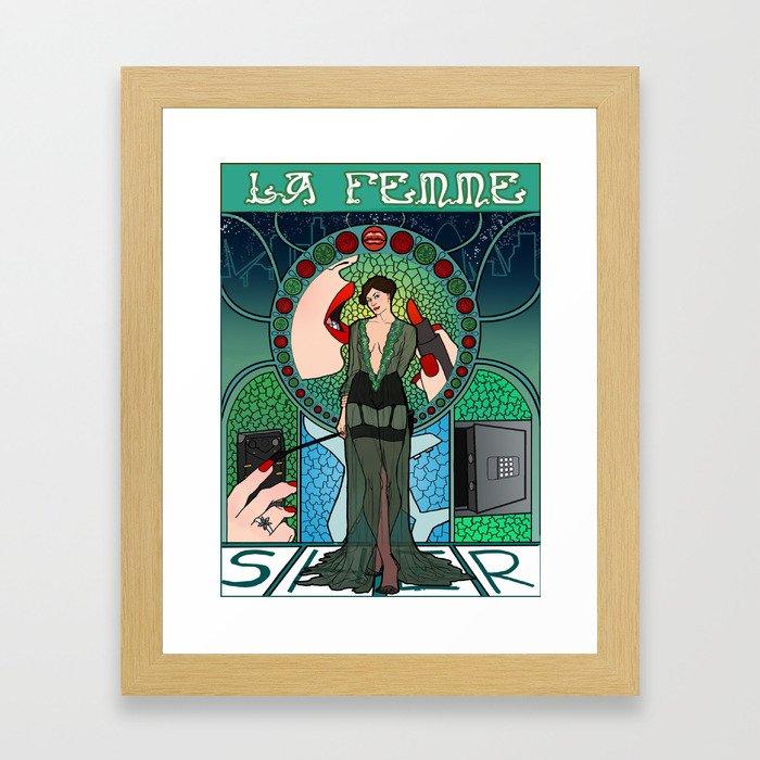 Sherlock Nouveau: Irene Adler Framed Art Print