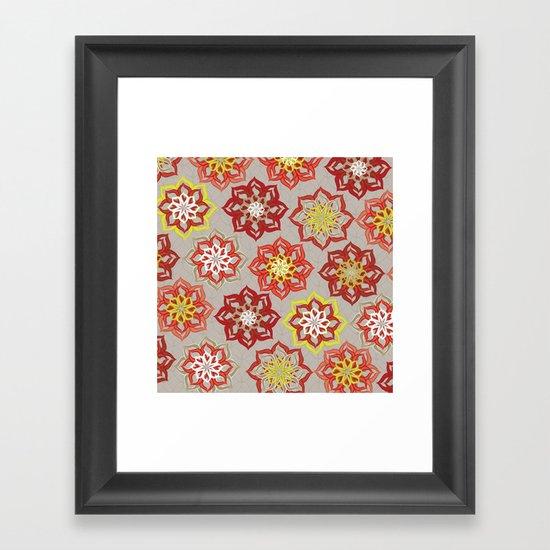 Multi Red Flowers Framed Art Print