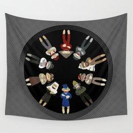 Sock Monkeys of the World Wall Tapestry