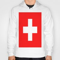 switzerland Hoodies featuring Flag of Switzerland by Neville Hawkins