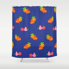 Jambu I (Wax Apple) - Singapore Tropical Fruits Series Shower Curtain