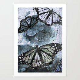 take flight blue Art Print