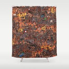 Gold Favela Shower Curtain