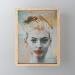 Geometric Face Art Framed Mini Art Print