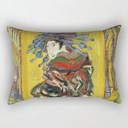 "Vincent van Gogh ""The Courtesan (after Eisen)"" Rectangular Pillow"
