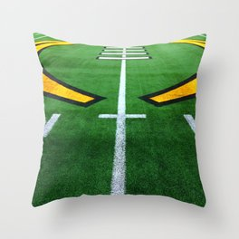 Rugby playing field Throw Pillow