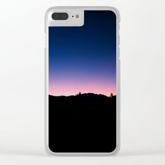 Pink blue sky Clear iPhone Case