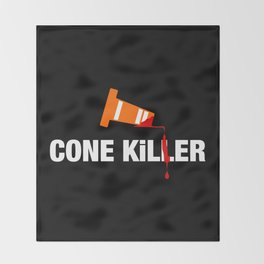Cone Killer v1 HQvector Throw Blanket