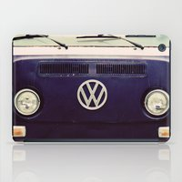 vw bus iPad Cases featuring Blue VW Bus by Anna Dykema Photography
