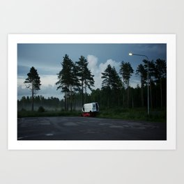 Cars in the woods Art Print