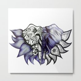 Mandelephant Metal Print
