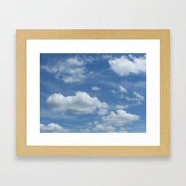 Blue Summer Sky // Cloud Photography Framed Art Print