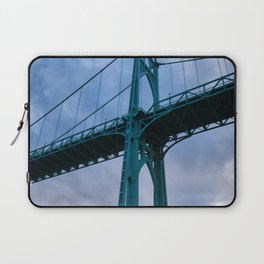 St. Johns Bridge, Gothic Tower Laptop Sleeve