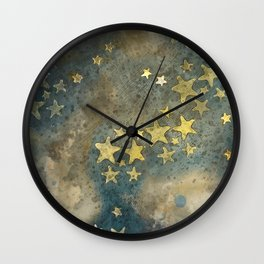 dusty stars Wall Clock