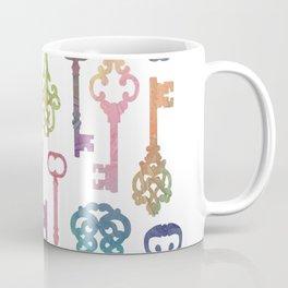 Rainbow Keys on White Coffee Mug