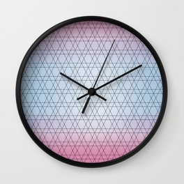 Blue Diamonds and Pink Shades Wall Clock