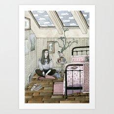 Girls bedroom Art Print