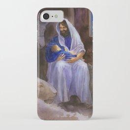 Joseph and Baby Jesus iPhone Case