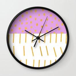 AZTEC BABE - Modern Pink Furniture Wall Clock