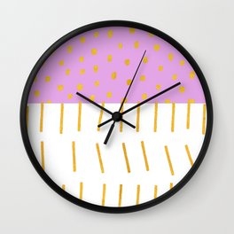 AZTEC BABE - Modern Pink Furniture Wall Clock