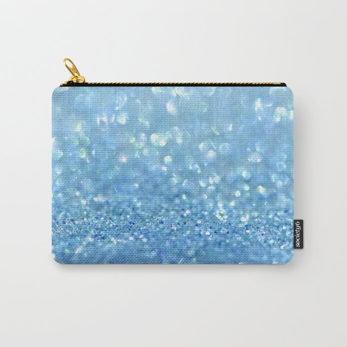 Sparkling Baby Sky Blue Glitter Effect - on #Society6 Carry-All Pouch