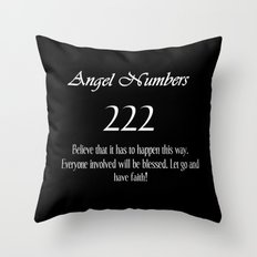 ANGEL Numbers 222 Throw Pillow