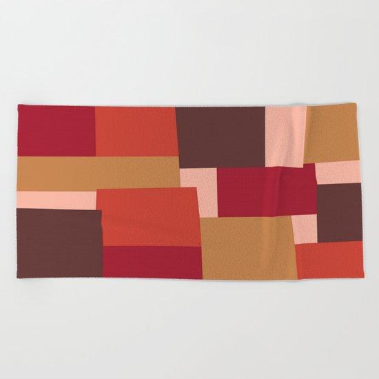 Squares Beach Towel