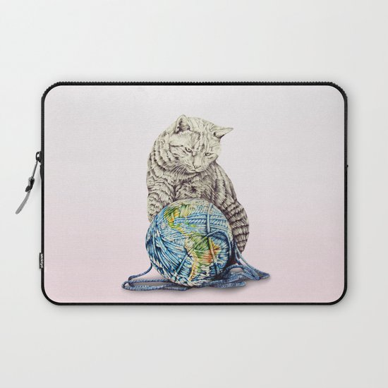 In which our feline deity shows restraint  Laptop Sleeve