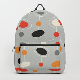 Mid Century Retro circles pattern Backpack