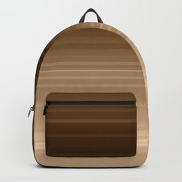 gradient, copper, brown, stripes Backpack