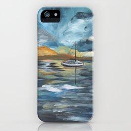 Boat on Blue Seas iPhone Case