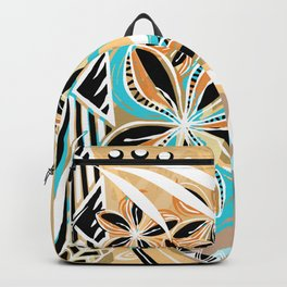 Hawaiian - Samoan - Polynesian Tiare Tribal Designs Backpack