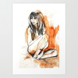 Calin Orange Art Print