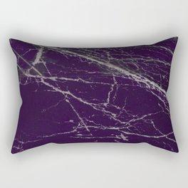 Purple Marble Crease Texture Design Rectangular Pillow