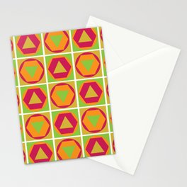 Classic Shapes / Retro Colours Stationery Cards