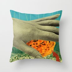 wake up and smell the flowers Throw Pillow
