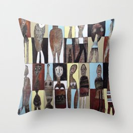 People On The Street Throw Pillow