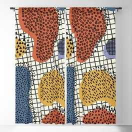 Colorful Notebook II Blackout Curtain