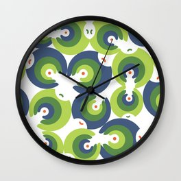 Mano Semilla/Hand Seed--Green Wall Clock