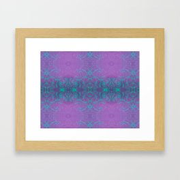 Dreamy turquoise and purple spirals  Framed Art Print