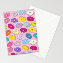 Donuts Pink Dreams Stationery Cards