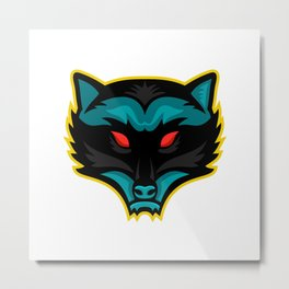 North American Raccoon Mascot Metal Print