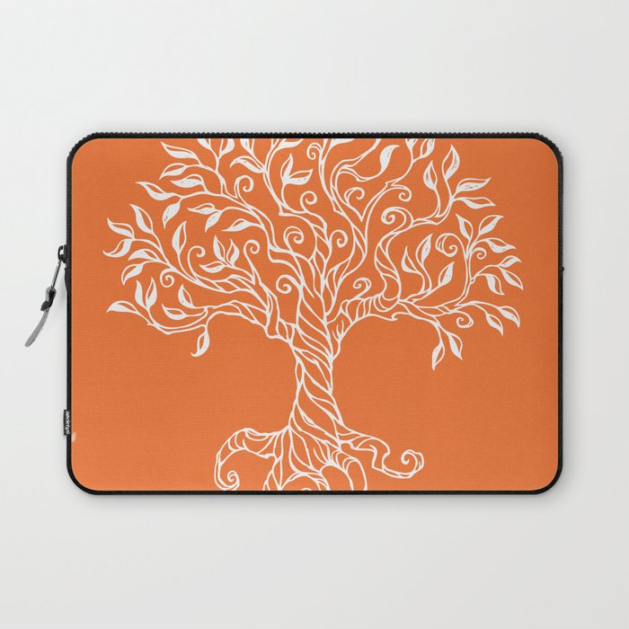 Tree of Life Orange Laptop Sleeve