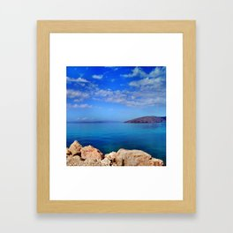 Island of Krk in Croatia Framed Art Print