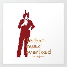 Techno Music Overload Art Print