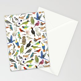 Endangered Birds Around the World Stationery Cards