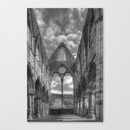 Tintern Abbey in Monochrome Canvas Print