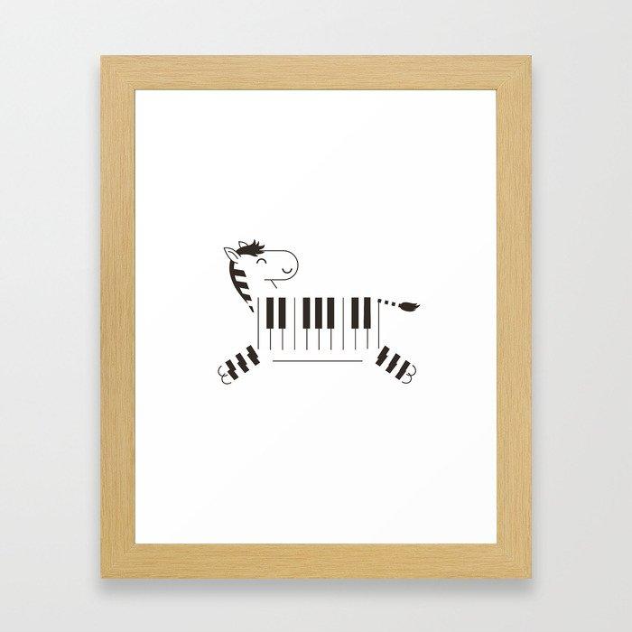 Life is like a piano Framed Art Print
