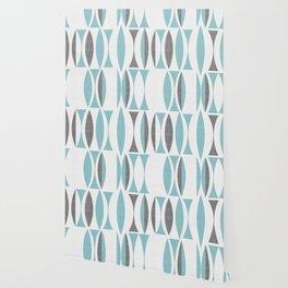 Seventies in aqua Wallpaper