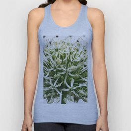 457 - White Flower Unisex Tank Top